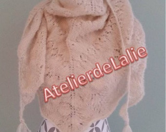 Shawl, scarf, wrap, handmade Alpaca silk handmade scarf
