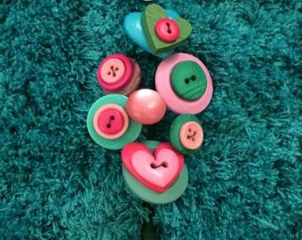 Buttonhole, Bright Buttonhole, Wedding, Lapel Pin, Boutonniere, Guest Buttonhole