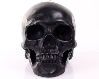 Large  Black Skull Candle  - Average weight 3.5 pounds -  You can choose a different color