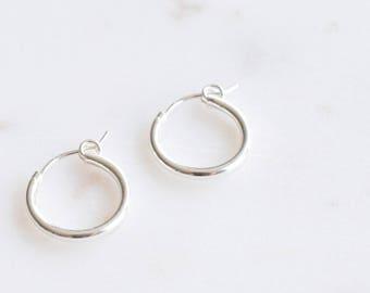 Hoop earrings; Huggie earrings; Handmade Jewelry; Dainty Jewelry; Dainty earrings; sterling silver earrings 925; silver ear hoops; delicate