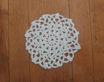 Little Sun Doily, Doily, Small Doily, White Doily, Crochet Doily