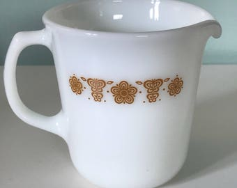 Vintage Pyrex Gold Butterfly Creamer Cup