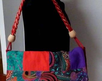 style 4 color patchwork bag, satchel, bag