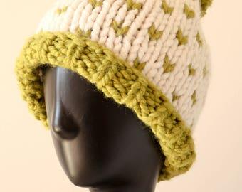 Chunky Knit Hat With PomPom