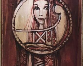 Bohemian Women Original Painting Dyptych