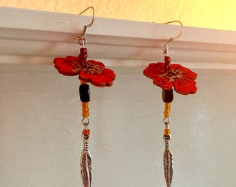 Tiger Lily Earrings (Reserved)