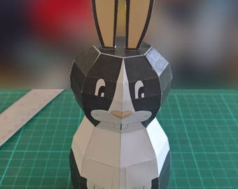 Paper Bunny Model (Dutch) DIY Paper Craft