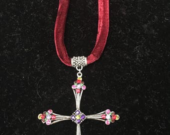 Velvet Cross necklace by Faith