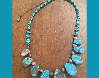 Genuine Turquoise Stone Necklace