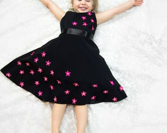 Kids designer wear STARLIT LAUREL with Cute hair Bow and Purse