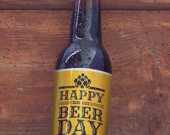 Customizable Beer Label Happy BeerDay | 6 Pack