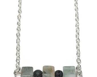 Dakota Lava Essential Oil Diffusing Necklace, Dakota Stone Necklace, Lava Stone Necklace, Essential Oil Diffusing Bar Necklace, Minimalist
