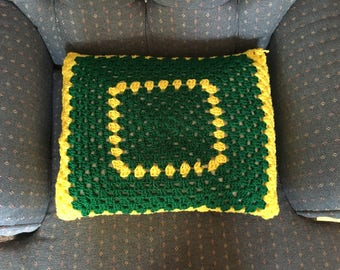 Accent Pillow, Granny Square Pillow, Crochet Pillow