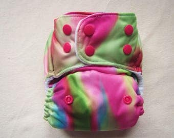 One size, Cloth diaper cover, Color Play, cloth diaper pattern, modern, baby girl diaper,washable diaper, pocket diapers, cloth diapers