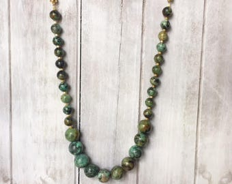 Turquoise Jasper Beaded Section of Interchangeable Necklace