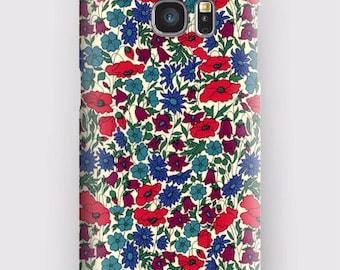 Case for Samsung S5, S6, S6 and S7, S7 + S8 S8 + A3, A5, J3, GP Note 4,5, 8, Liberty poppy daisy
