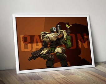 Overwatch Bastion Poster - A2 '594mm x 420mm'