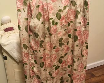 80's printed rose floral skirt size 16