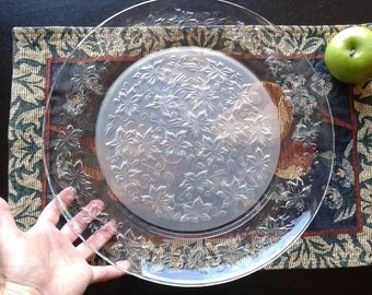 "Princess House Fantasia 13"" Crystal Platter"