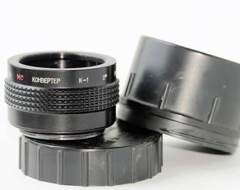 MC Tele Converter K-1 MS M42 made in USSR #848892 Vintage Lens