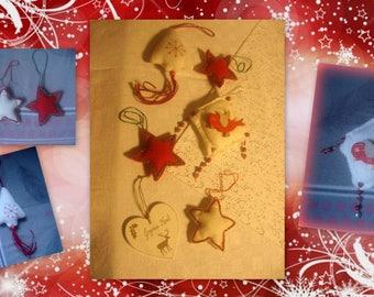 SET of 6 Christmas ornaments