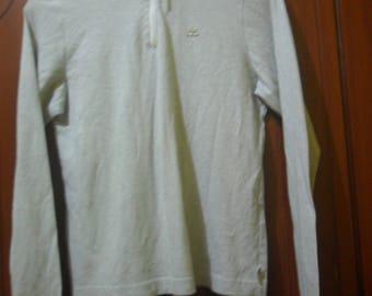 Vintage Courreges Long sleeve zip shirt//French designer//size 40//made in Japan