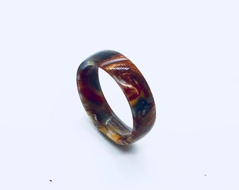 Molten Metal Resin RIng / Male Rings / Female Rings