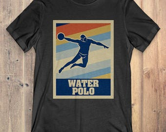 Water Polo T-Shirt Gift: Vintage Style Water Polo