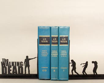 The Walking Dead handmade bookends. Nursery decor. First birthday gift. Baby present idea