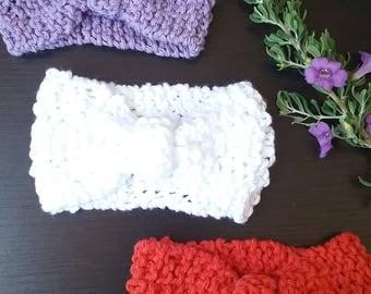 Set of Three Newborn Knitted Turban Headbands