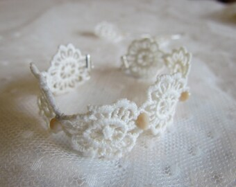 delicate flower bracelet jewelry lace