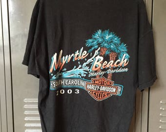 Harley Davidson Tee - Myrtle Beach, South Carolina 2003