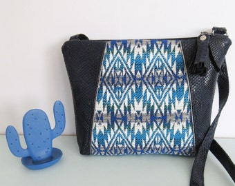 Blue //HUGUETTE// Aztec print bag