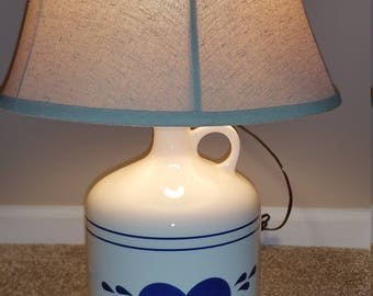 Country jug lamp    Home, country, barn, kitchen, heart
