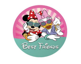 Minnie Mouse and Daisy Duck Best Friends Button - BFF Button Set - Disney Park Button - Theme Park Pin - Bestie Buttons - Disney Pins