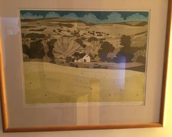 John Brunsdon Print of Llangwm 47/150