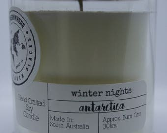 ANTARCTICA - Winter Nights: Hand-Crafted Soy Candle