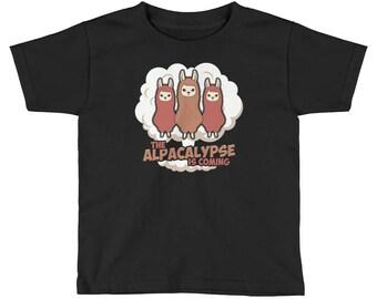 The Alpacalypse Is Coming Kid's Alpaca T-Shirt