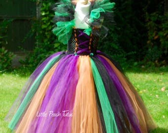 New to Etsy! Halloween Witch Tutu Dress Costume. Wicked witch outfit