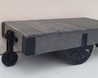 Miniature Industrial Cart Coffee Table, Dollhouse Miniatures, Dollhouse Furniture, Farmhouse Decor, Miniature Furniture, Handmade