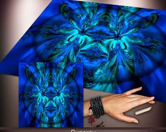 Crystal Grid Cloth - Synergy of Attraction - Crystal Meditation Energy Grid