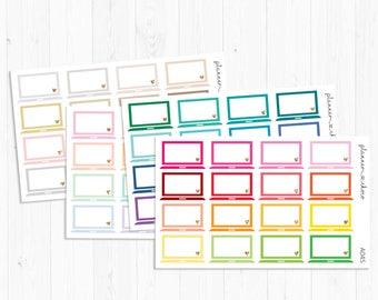 Laptop Stickers/planner stickers label/ECLP/EC vertical/erin condren life planner/multicolor functional/rainbow/glitter/neutral/pastel