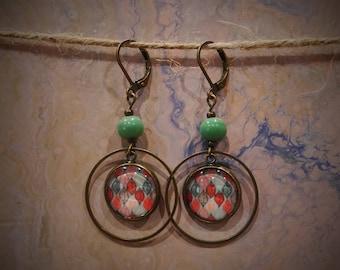 bronze dangle earrings