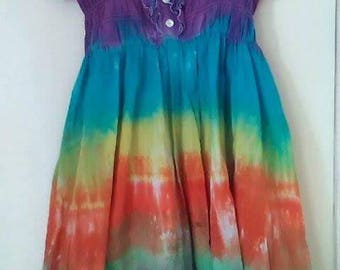 Tie dye Boho dress