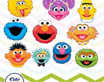 Sesame street faces   Etsy