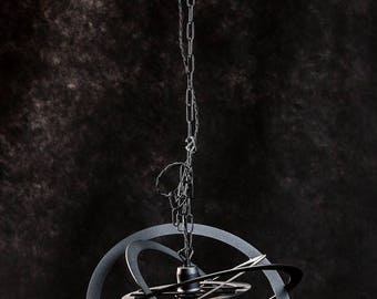 geometrische kugelfrmige pendelleuchte handgearbeitet aus metall schwarze farbe moderne loft - Geometrische Formen Farben Modernes Haus