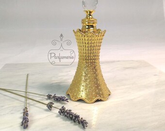 Gold Studded AlRehab Style Old World ATTAR Oil Oud PERFUME Cologne Bottle 12ML Gift Exotic Arabian Private Label
