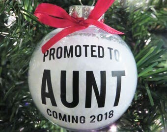 Aunt Pregnancy Announcement Ornament. New Aunt Gift. Auntie Ornaments. Aunt Pregnancy Reveal. Aunt Ornaments. Christmas Tree Aunt Ornaments.