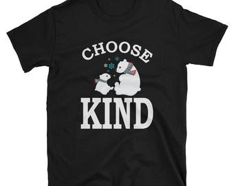 Choose Kind T Shirt Teacher Anti Bully With Bears Teachers and Students Anti Bullying Shirts - Gifts - Everyday Wear