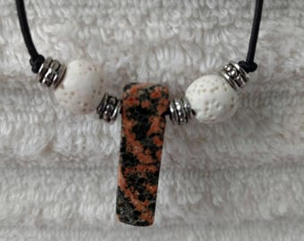 Jasper and Lava Stone Pendant